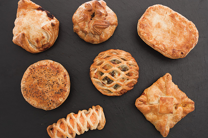 variety of pastry shapes